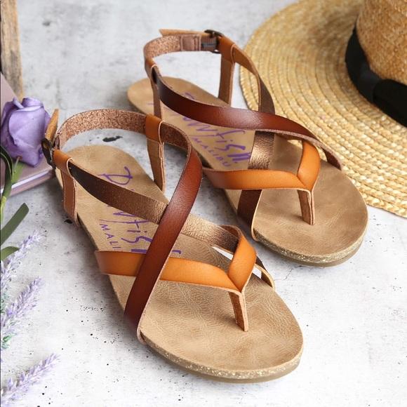 a03e7d566db2 Blowfish Shoes - Blowfish Granola Brown Tan Bronze Gladiator Sandal